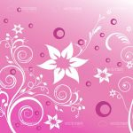 Abstract Floral Background in Pink and White